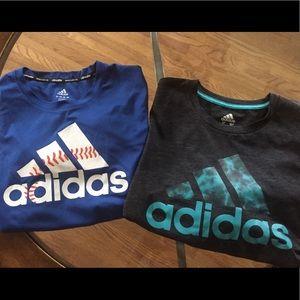 Adidas boys shirts (climalite material)